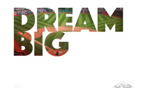 Baseball Printable Dream Big || www.lifeinleftfield.com