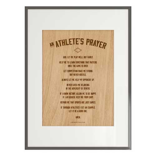 Athlete Prayer Printable || lifeinleftfield