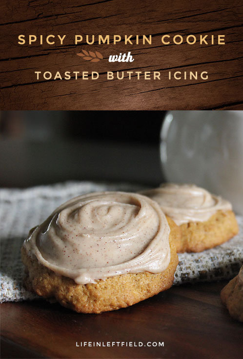 Spicy Pumpkin Cookie with Toasted Butter Icing